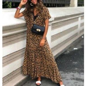 ❤ Zara Animal Print Dress